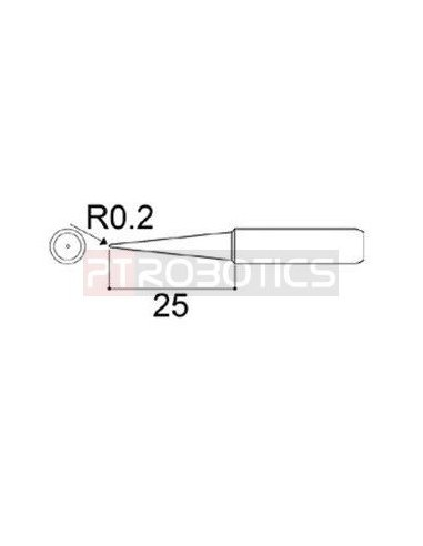 Conical Tip 0.2mm for 60W ESD Soldering Station