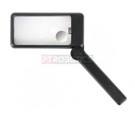 Illuminated Magnifying Glass - 2x-6x   Lupa Eletronica  