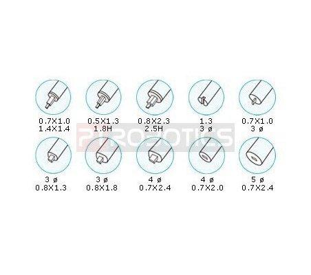 10Pcs Trimming Tool Set - Proskit 1PK-A001 | Chaves Ajuste |