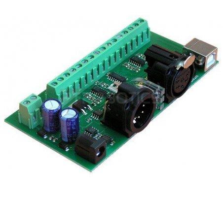 DMX-USB-RX-A8 - 8 Channel Analogue Output Module