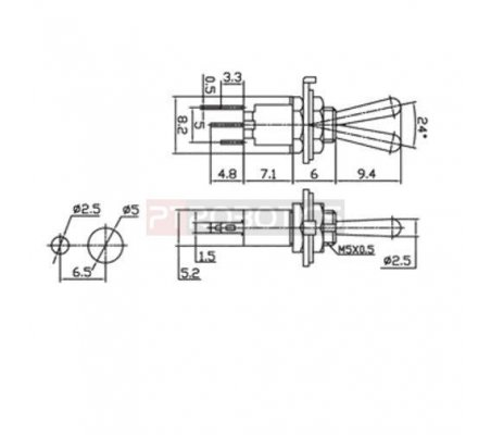Mini Interruptor Toggle SPDT - 250V 1.5A | Toggle Switch |