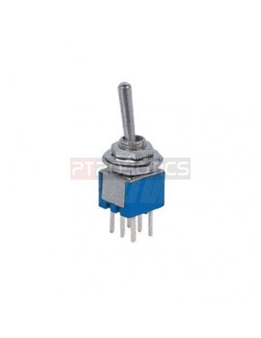 Miniature Toggle Switch PCB DPDT - 250V 1.5A