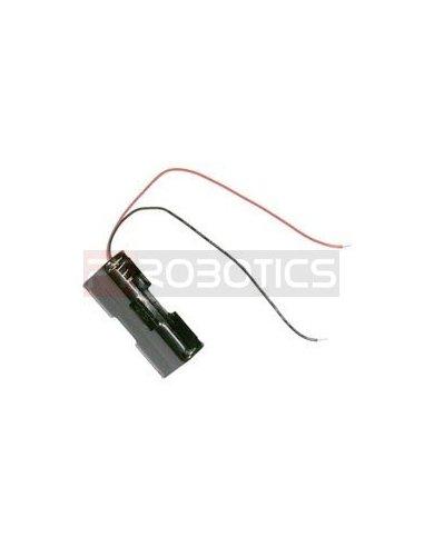 Suporte 2xAA Wire Leads | Suporte Pilhas |
