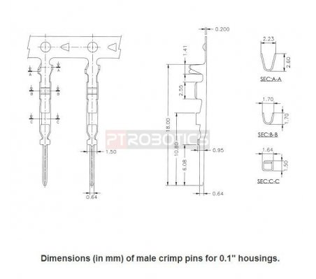 "Male Crimp Pin for 0.1"" Housing"