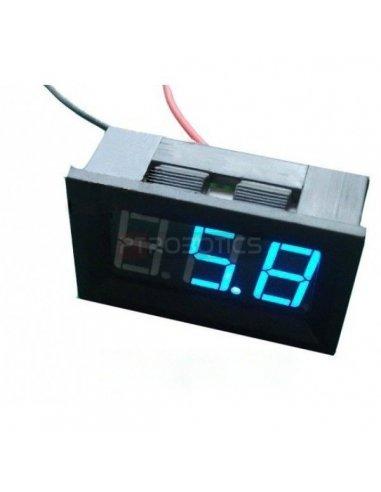 LED Voltage Meter Blue | Medidores de Painel |