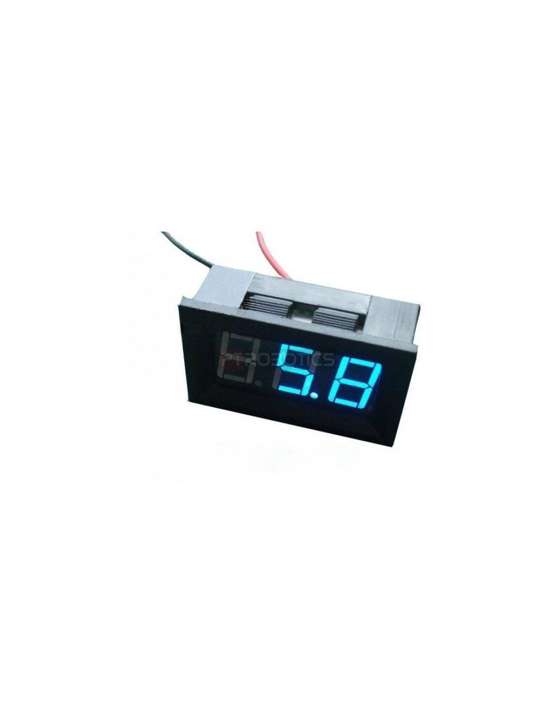Blue Led Meter : Led voltage meter blue
