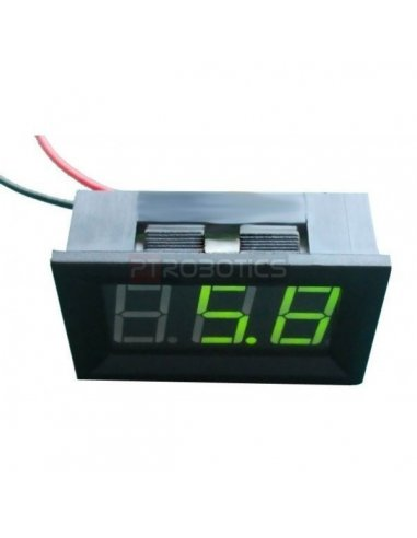 LED Voltage Meter Green | Medidores de Painel |