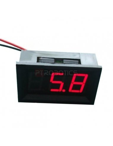LED Voltage Meter Red   Medidores de Painel  