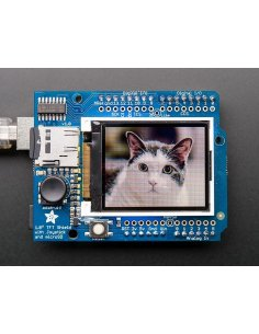 "Adafruit 1.8"" 18-bit Color TFT Shield microSD and Joystick"
