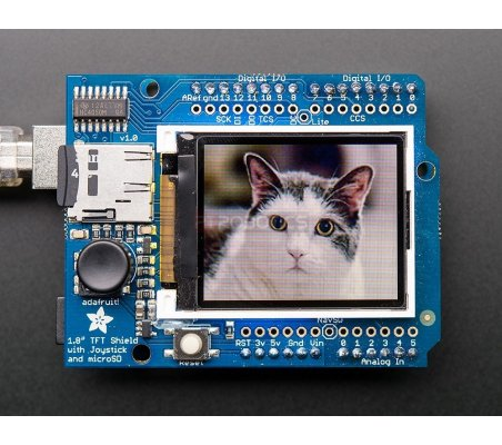 Adafruit 1.8 18-bit Color TFT Shield microSD and Joystick | LCD Grafico |