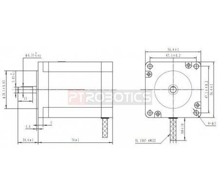 Stepper Motor Unipolar-Bipolar 200Steps 8.6V 1A 190oz-in | Motor Stepper |