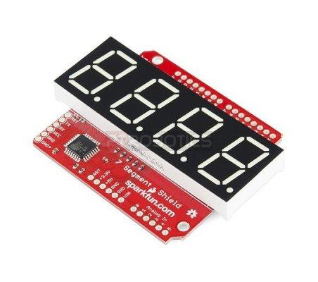 OpenSegment Shield - Verde (20mm) | Display Arduino |