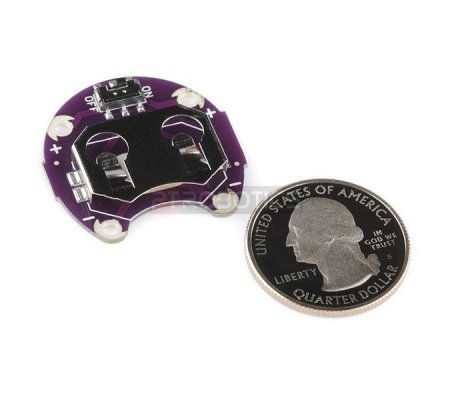 LilyPad Coin Cell Battery Holder - Switched - 20mm | Lilypad Flora Gemma |