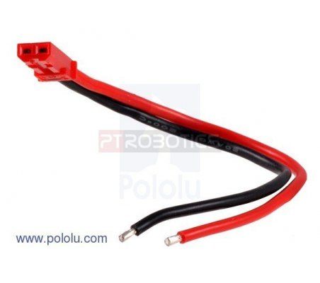 JST RCY Plug with 10cm Leads - Female | Assemblados |