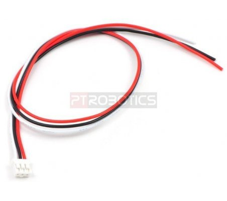 3-Pin Female JST PH-Style Cable for Sharp Distance Sensors - 30cm | Assemblados |