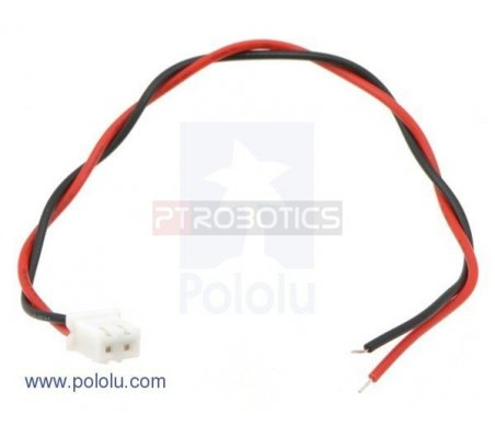 2-Pin Female JST XH-Style Cable - 15cm | Assemblados |
