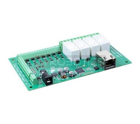 ETH484 - 4 Relays 16A 8-Digital 4-Analogue Inputs