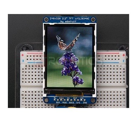 2.2 18-bit color TFT LCD display with microSD card breakout - ILI9340 | LCD Grafico |