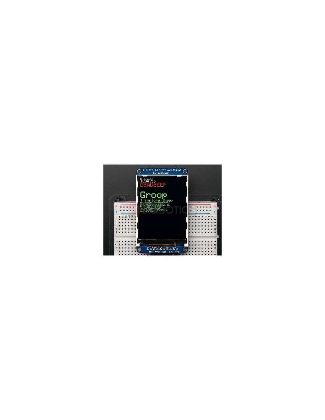 2 2 Quot 18 Bit Color Tft Lcd Display With Microsd Card Breakout Ili9340