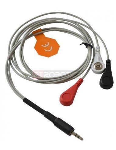 ECG Electrodes and cable for EKG-EMG Shield | Arduino Biométrico |