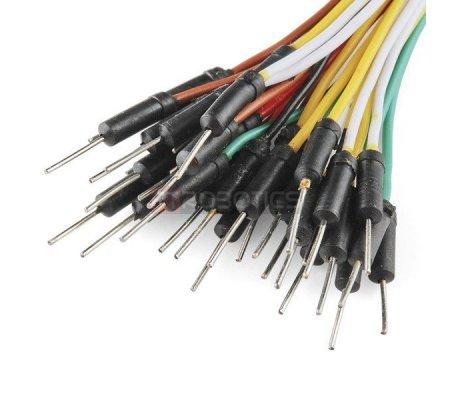 Jumper Wires Standard 11cm M/M Pack of 10 Random Color | Jumper Wires |