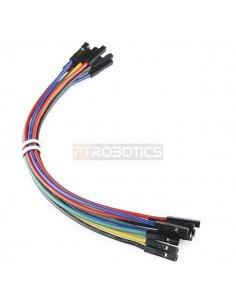 Jumper Wires Premium 20cm F/F Pack of 10 Random Color