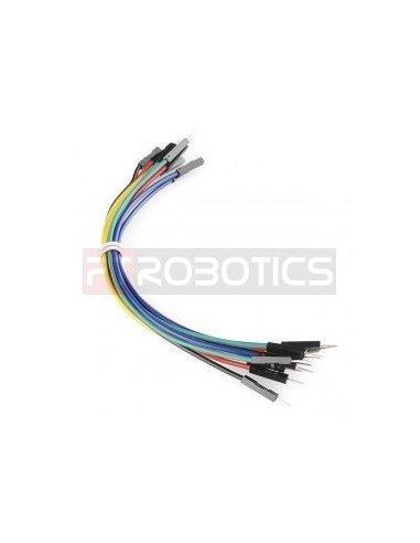 Jumper Wires Premium 20cm M/F Pack of 10 Random Color