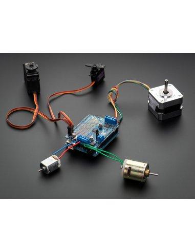 Adafruit Motor-Stepper-Servo Shield for Arduino v2 Kit | Motores Arduino |
