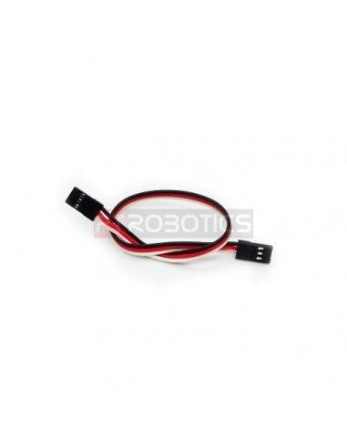 3 Pin Dual - female Jumper Wire - 20cm | Assemblados |