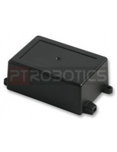 Flanged Black ABS Enclosure 82X57X33mm
