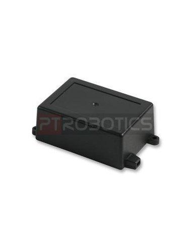 Flanged Black ABS Enclosure 82X57X33mm   Caixas de Aparelhagem  