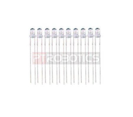 Kit Leds 3mm Pure White Bright PTRobotics