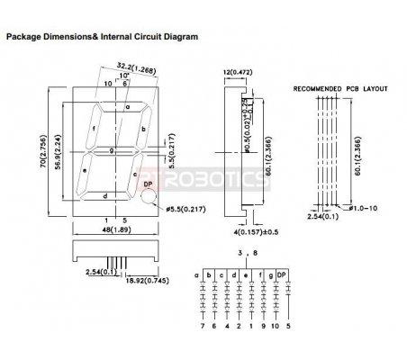 SA23-12EWA - 7-segment Display 2.3 - Vermelho  | Display 7 segmentos |