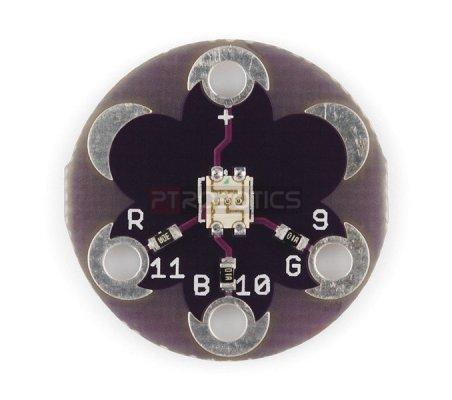 LilyPad Tri-Color LED | Lilypad Flora Gemma |