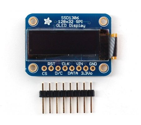 Monochrome 128x32 SPI OLED graphic display | LCD Grafico |