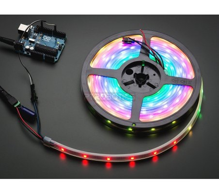 Adafruit NeoPixel Digital RGB LED Weatherproof Strip 30 LED -1m - Black