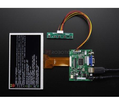 HDMI 4 Pi: 7 Display no Touchscreen 800x480 - HDMI/VGA/NTSC/PAL | LCD Raspberry Pi |