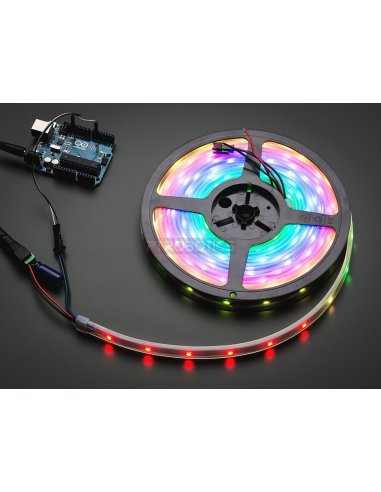 Adafruit NeoPixel Digital RGB LED Weatherproof Strip 30 LED -1m - Branco | Neopixel |