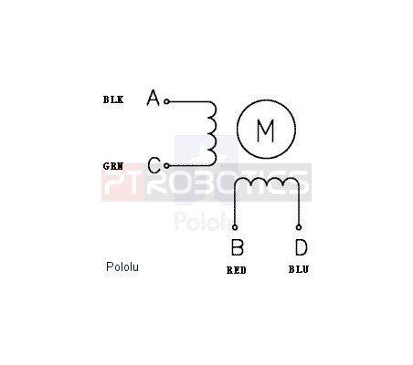 Stepper Motor: Bipolar, 200 Steps/Rev, 20×30mm, 3.9V, 0.6 A/Phase Pololu