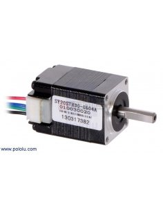 Stepper Motor: Bipolar, 200 Steps/Rev, 20×30mm, 3.9V, 0.6 A/Phase