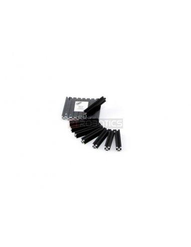 MakerBeam 60mm black anodised - Threaded | Makerbeam | Makerbeam