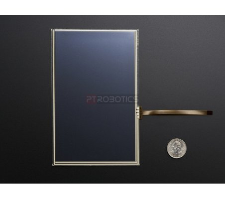 """Resistive Touchscreen Overlay - 7"""" diag. 165mm x 105mm - 4 Wire Adafruit"""