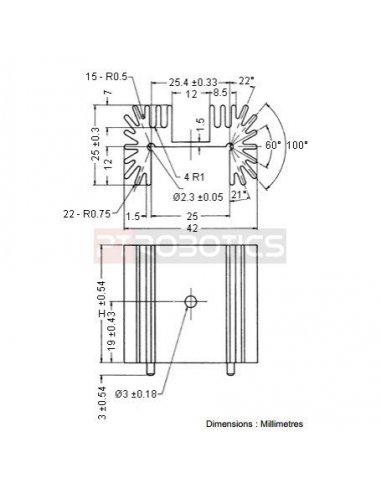 Heatsink TO218 - TO220 - TO247 - 5.6°C/W | Dissipadores |