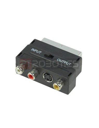 Scart - RCA - S-Video - Input Output Adapter