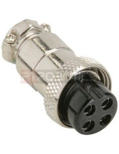 Multipin Circular MIC Connector - 4Pin Plug