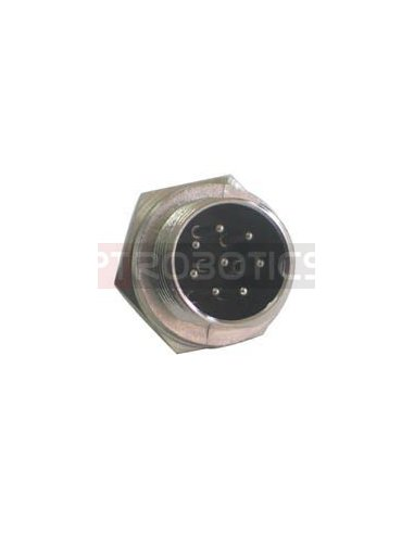 Multipin Circular MIC Connector - 8Pin Male Chassis