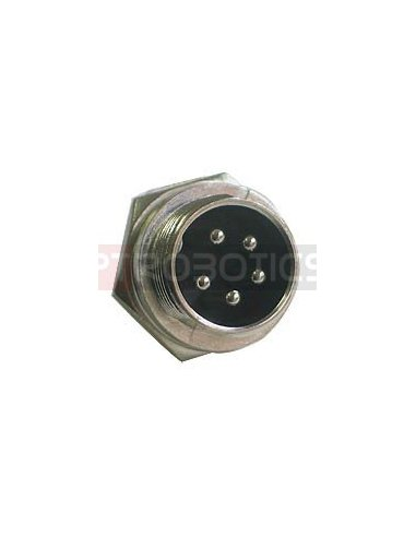 Multipin Circular MIC Connector - 5Pin Male Chassis