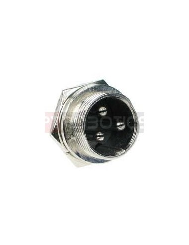 Multipin Circular MIC Connector - 3Pin Male Chassis | Conectores XLR e MIC |
