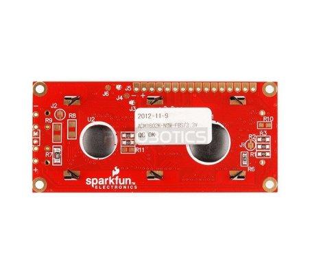 Basic 16x2 Character LCD - Branco on Black 3.3V | LCD Alfanumerico | Sparkfun