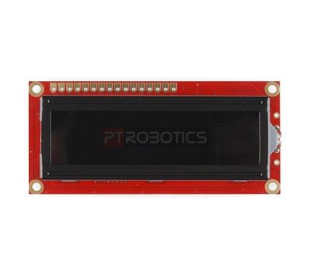 Basic 16x2 Character LCD - Vermelho on Black 3.3V   LCD Alfanumerico   Sparkfun